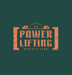 emblem of the powerlifting club vector image