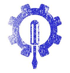 Engineering grunge textured icon vector