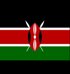 Flag of kenya official colors and proportions vector