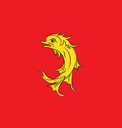 Flag of loire in auvergne-rhone-alpes region in vector