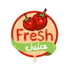 Fresh juice emblem 10 vector