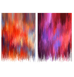 Glitch backgrounds set vector