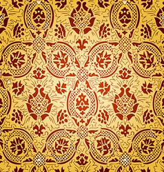 gold seamless abstract floral pattern vector image