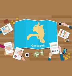 Guayaquil ekuador ecuador city region economy vector