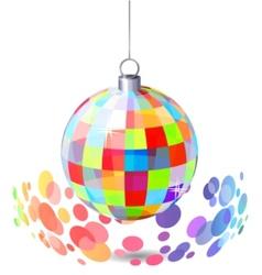 Hanging mirror ball vector