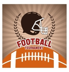 Helmet and ball of american football design vector image