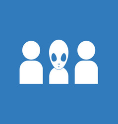 Icon aliens silhouettes vector