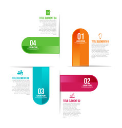 infographic template with 4 steps workflow design vector image