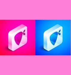 Isometric cowboy bandana icon isolated on pink and vector