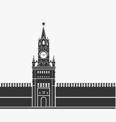 kremlin clock chimes moscow symbol vector image