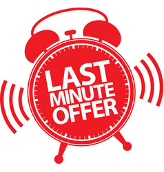 last minute offer alarm clock icon vector image