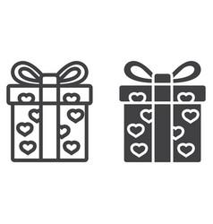 love present line and glyph icon vector image