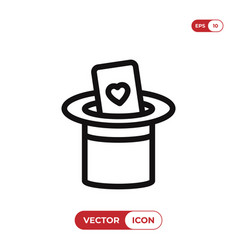 magical hat icon vector image