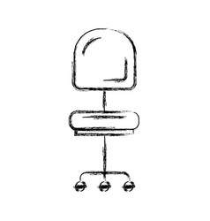 Monochrome blurred silhouette of office chair vector