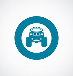 Monster car icon bold blue circle border vector