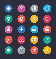 navigation simple color icons vector image