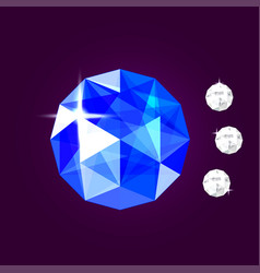 Realistic sapphire jewel gem vector