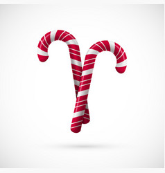 red and white chrisrmas candy template for vector image