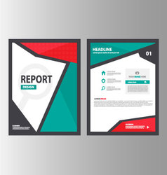 Red green brochure flyer leaflet report set vector