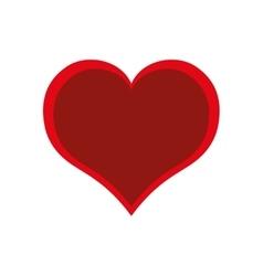 Red heart valentine day love design vector