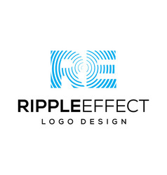 ripple effect logo design inspiration vector image