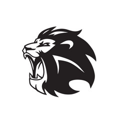Roaring lion head logo mascot vector