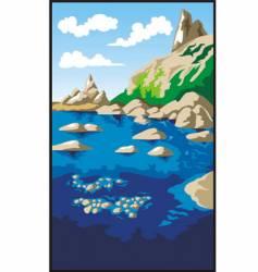 rocks and sea vector image