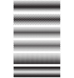 Seamless halftone dots effect borders vector