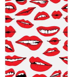 Seamless lips backgound vector