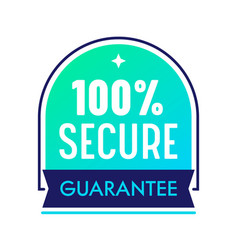 Secure guarantee satisfaction label commercial vector