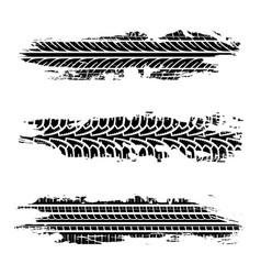 set grunge tire tracks vector image