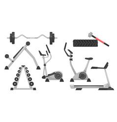set of fitness equipmen vector image