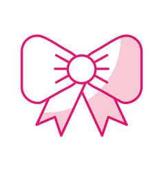 shadow fuchsia bow cartoon vector image