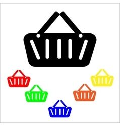 Shopping bags icons vector image