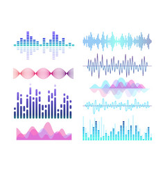 Sound effects color set vector