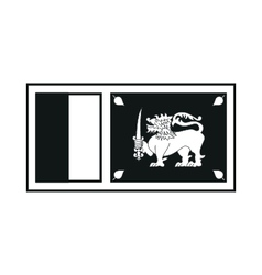 sri lanka flag monochrome on white background vector image