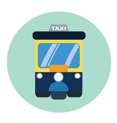 taxi tuk-tuk vector image
