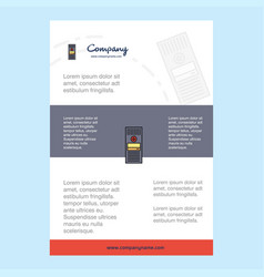 Template layout for cpu comany profile annual vector