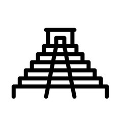 Temple icon outline vector