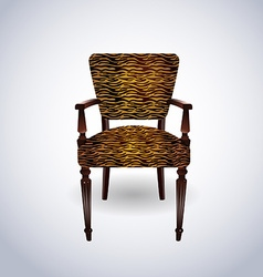 Tiger skin Chair vector