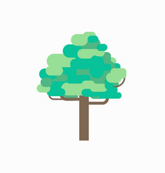 tree graphic design with isolated white vector image