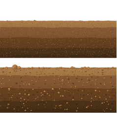 Underground layers of earth seamless ground vector