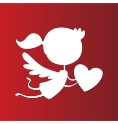 Valentine Day cupid angel cartoon style vector image