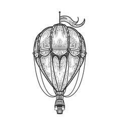 Vintage air balloon sketch vector