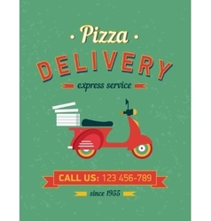 Vintage delivery poster with old typography vector