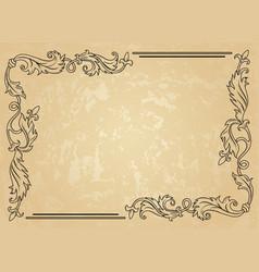 Vintage ornament frame vector