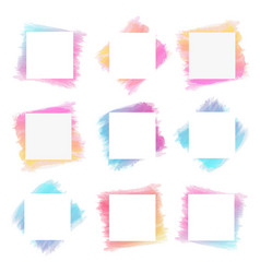 watercolor frame hand draw style texture vector image
