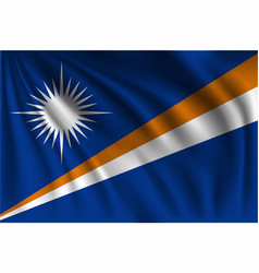 Waving marshall islands vector