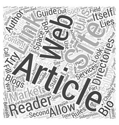 What Lies Beneath an Article on Marketing Word vector