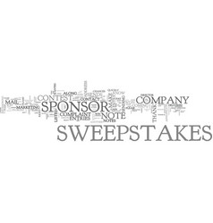 When is it appropriate to contact a sweepstakes vector